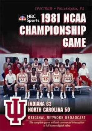 1981 NCAA Championship Game: Indiana vs. North Carolina DVD