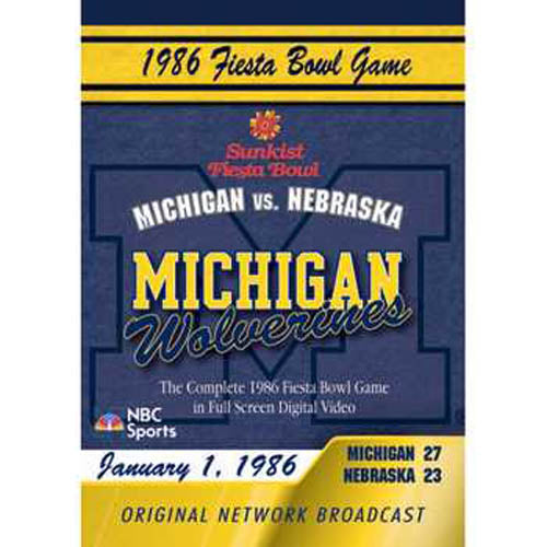 1986 Fiesta Bowl DVD