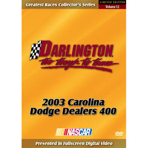 2003 Darlington 400 DVD