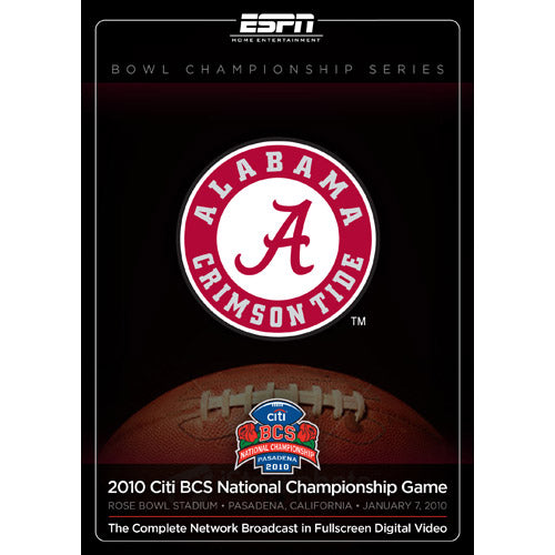 2010 Citi BCS National Championship: Alabama vs. Texas DVD