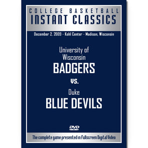 2009 Big Ten Conference Basketball: Duke at Wisconsin DVD