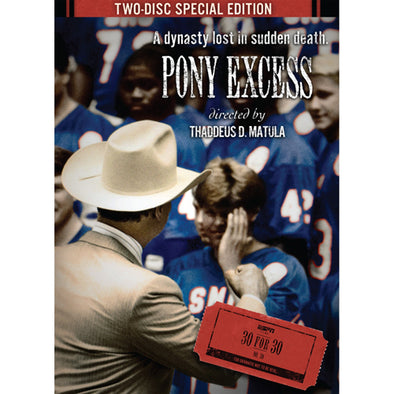 ESPN Films 30 for 30: Pony Excess DVD