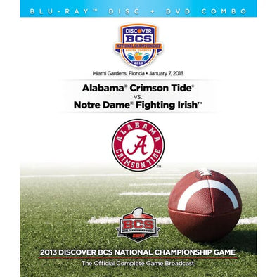 2013 Discover BCS National Championship Game: Alabama vs. Notre Dame DVD & Blu-Ray™ Combo