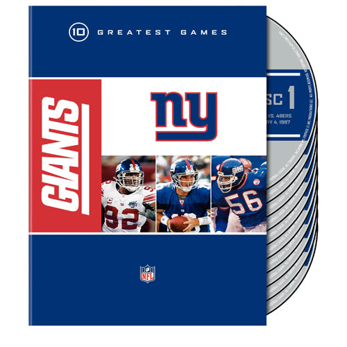 NFL New York Giants 10 Greatest Games DVD