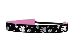 Black and White Paws Headband