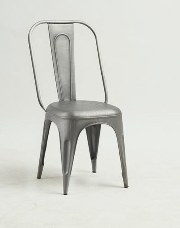 Cosmo Grey Metal Chairs (Pair)