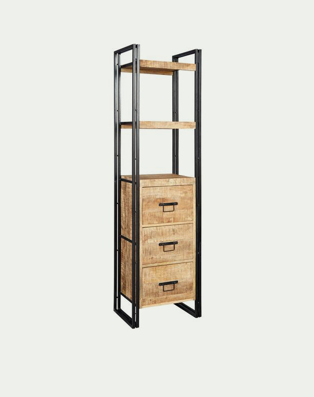 Cosmo Slim Bookcase with Drawers