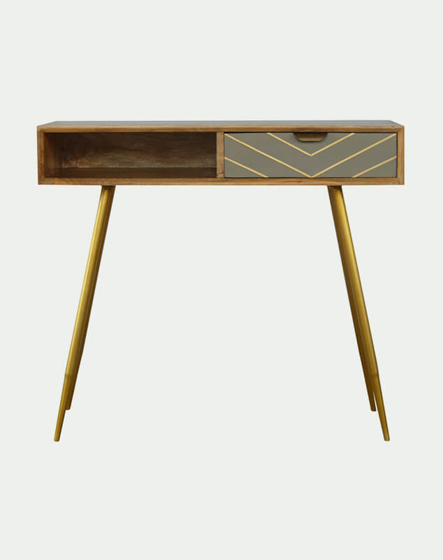 Freya scandi writing desk from Mocha Home UK 8906057242153