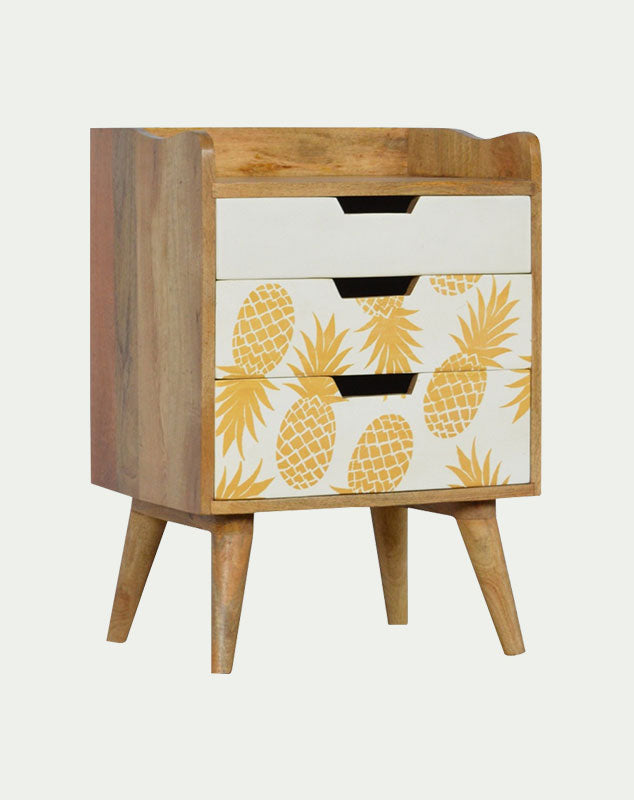 Spike Pineapple 3 Drawer Bedside Unit from Mocha Home