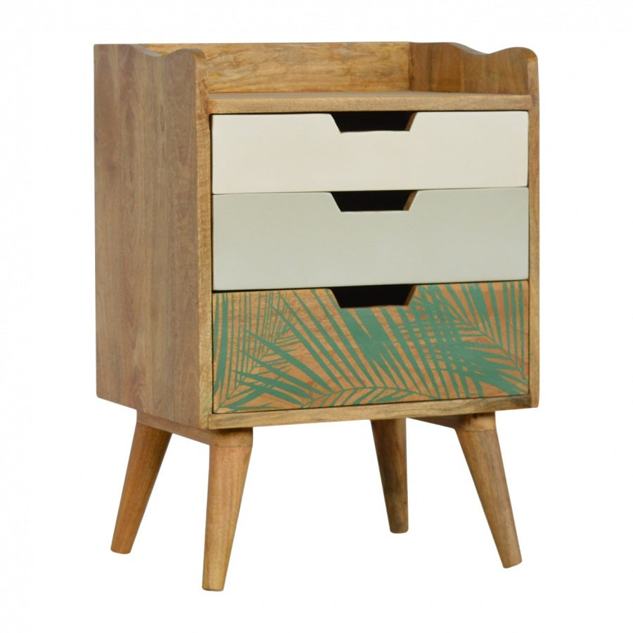 Verdure Foliage 3 drawer bedside unit from Mocha Home