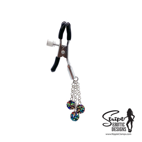Black Multi-Colored Nipple Clamps