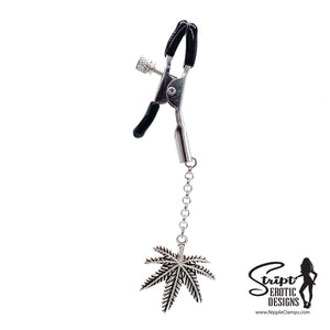 Cannabis Leaf - Large Charm Nipple Clamps