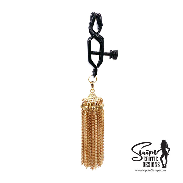 Gold-Color Chandelier Nipple Clamps