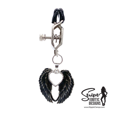 Gothic Angel Wings Nipple Clamps