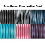 5mm Round Euro Leather Cord