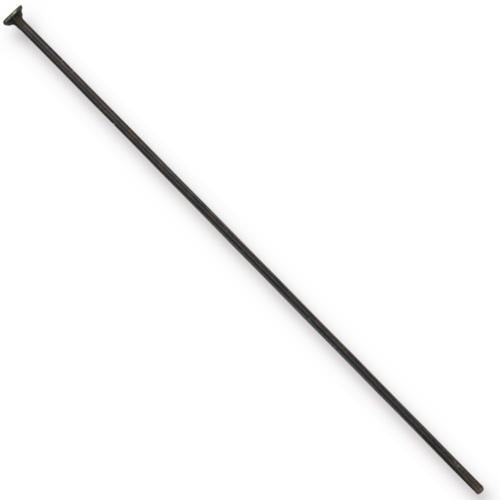 TierraCast Black Head Pins / 100 Pack / 2 Inches long x 21 Gauge / 01-0028-13