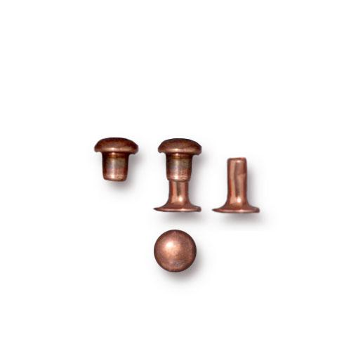 TierraCast 4mm Compression Rivets / 10 Pack / brass with antique copper finish / 01-0060-18