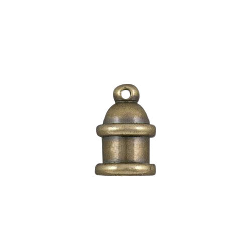 TierraCast 4mm Pagoda Cord End / brass with a brass oxide finish  / 01-0204-27