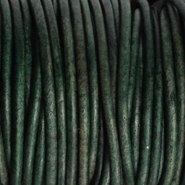 NATURAL TURQUOISE 2mm Round Leather Cord / 10m roll / Leathercord USA 413 / necklace bracelet lace cord