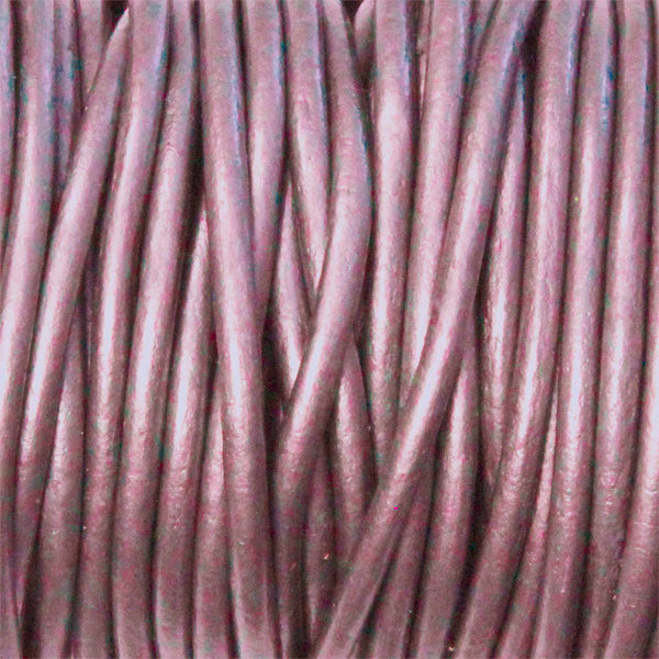 METALLIC FRUIT PUNCH 2mm Round Leather Cord / 10m roll / Leathercord USA 61 / necklace bracelet lace cord