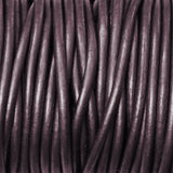 METALLIC BERRY 2mm Round Leather Cord / 10m roll / Leathercord USA 64 / necklace bracelet lace cord