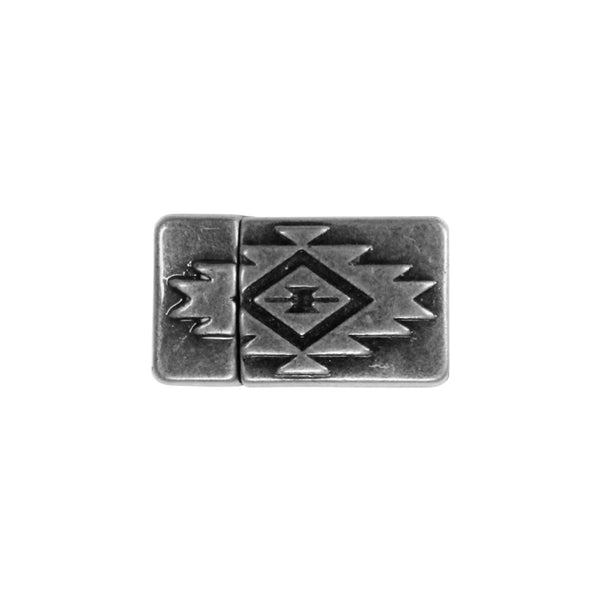 10mm Aztec Flat Magnetic Clasp / zinc alloy with a gunmetal black finish / ID 10 x 2mm / clasp for 10mm flat leather cord