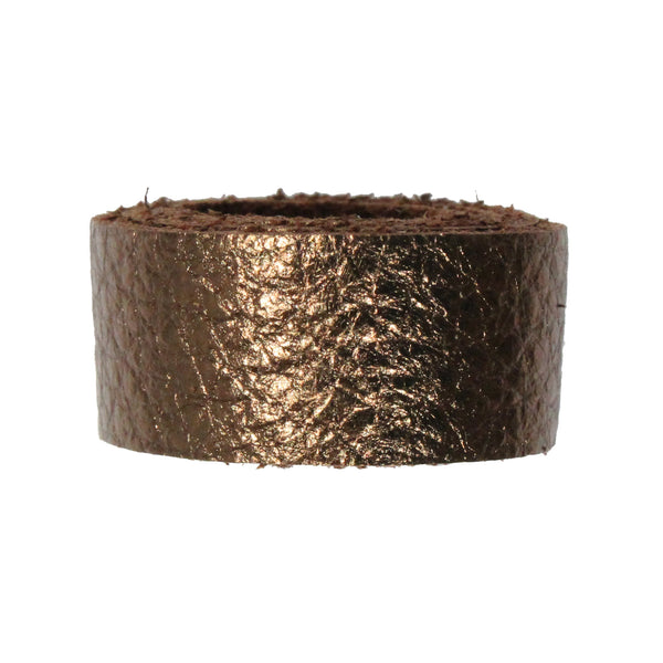 ANTIQUED COPPER Leather Strap / pre-cut 10 inch (Length) x 1/2 inch (Wide) / TierraCast USA