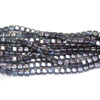 6mm Amethyst Luster / 2 Hole CzechMates Tile Beads / 50 Bead Strand