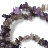 Amethyst Chip Beads / 16 Inch strand / 5-8mm chips / natural translucent semi-opaque glossy polished stone
