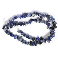 Sodalite Chip Beads / 16 Inch strand / 6-10mm chips / natural opaque stone