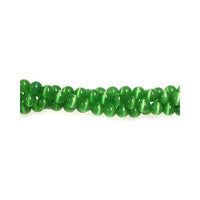 Dark Green Round Fiber Optic Beads / special effect cat's eye jewelry beads