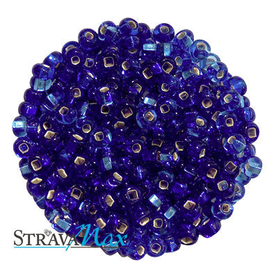 6/0 BLUE/SAPPHIRE S/L MIX Seed Beads / Preciosa-Ornela Czech Glass / sold in one ounce packs