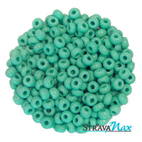 6/0 TURQUOISE GREEN Seed Beads / Preciosa-Ornela Czech Glass / sold in one ounce packs