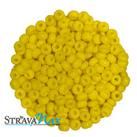 6/0 LEMON YELLOW Seed Beads / Preciosa-Ornela Czech Glass / sold in one ounce packs