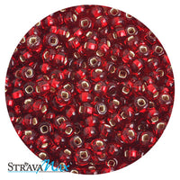 6/0 RED SILVER LINED Seed Beads / Preciosa-Ornela Czech Glass / sold in one ounce packs