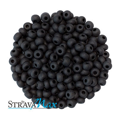 6/0 BLACK MATTE Seed Beads / Preciosa-Ornela Czech Glass / sold in one ounce packs
