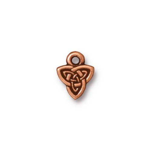 TierraCast Celtic Triad Charm / pewter antique copper finish / 94-2103-18
