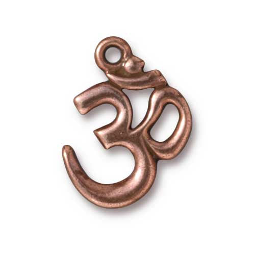 TierraCast 22mm Om Charm / pewter with antique copper finish  / 94-2297-18