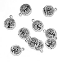 TierraCast 19mm Tree of Life Charm / pewter with antique silver finish / 94-2303-12
