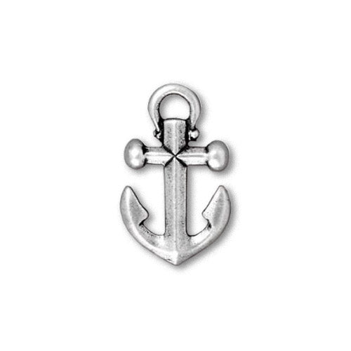 TierraCast Anchor Charm Antique Silver / pewter with a plated finish / 94-2359-12