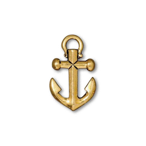 TierraCast Anchor Charm Antique Gold / pewter with a plated finish / 94-2359-26