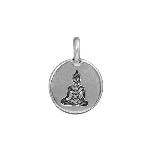 TierraCast Buddha Charm / pewter charm with antique silver finish / 94-2407-12