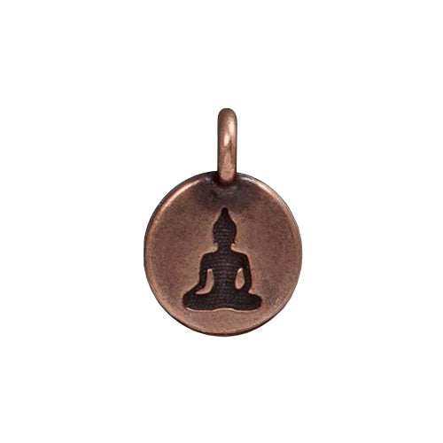 TierraCast Buddha Charm / pewter with antique copper finish / 94-2407-18