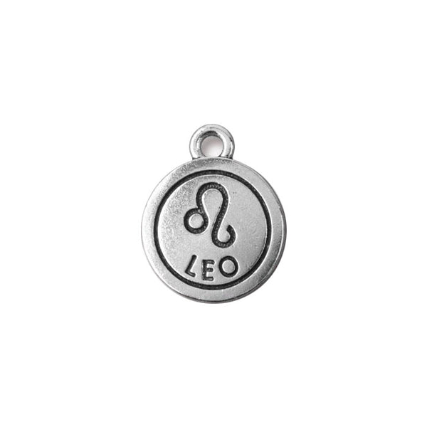 TierraCast Leo Zodiac Charm / pewter with antique silver finish  / 94-2474-12