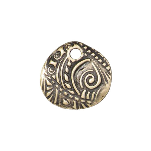 TierraCast 15mm Jardin Charm / pewter with a brass oxide finish / 94-2498-27