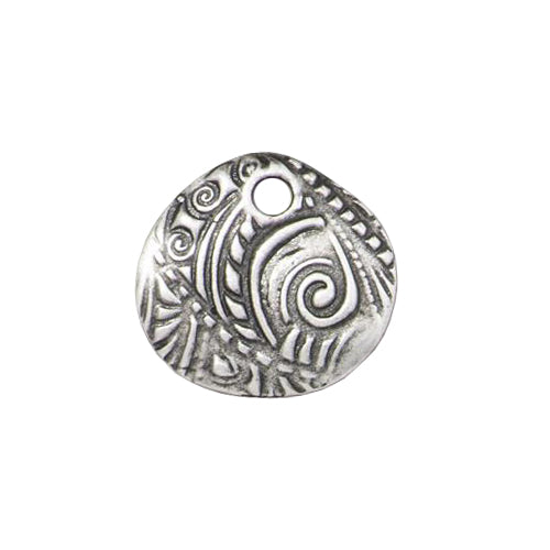 TierraCast 15mm Jardin Charm / pewter with antique finish / 94-2498-40