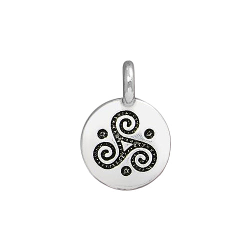 TierraCast Triple Spiral Charm / pewter with antique silver finish  / 94-2508-12