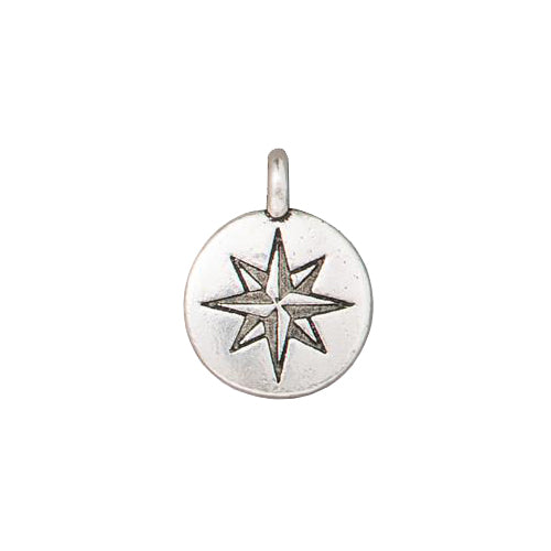 TierraCast Mini North Star Charm / pewter with antique silver finish / 94-2525-12