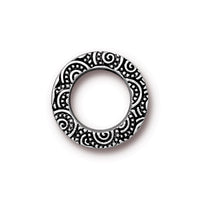 TierraCast 16mm Spiral Ring Link / pewter with antique silver finish  / 94-3138-12