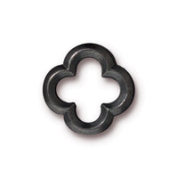 TierraCast 16mm Quatrefoil Link / pewter with a black finish / 94-3140-13
